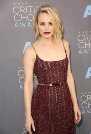 Celebrities attend The 21st Annual Critics' Choice Awards at Barker Hangar. Featuring: Rachel McAdams Where: Los Angeles, California, United States When: 17 Jan 2016 Credit: Brian To/WENN.com
